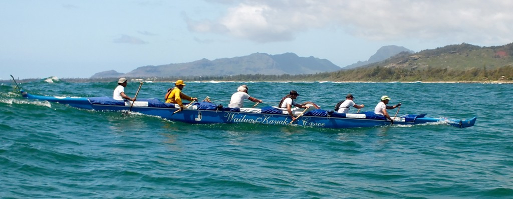 Racing into Wailua Bay | Outrigger Canoe Paddling